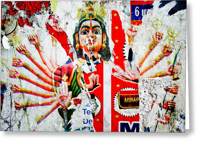 Hindu Goddess Photographs Greeting Cards - KaliYuga Greeting Card by Dev Gogoi