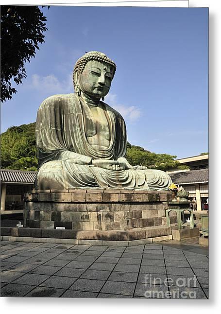 Kamakura Greeting Cards - Kamakura Buddha Greeting Card by Andy Smy