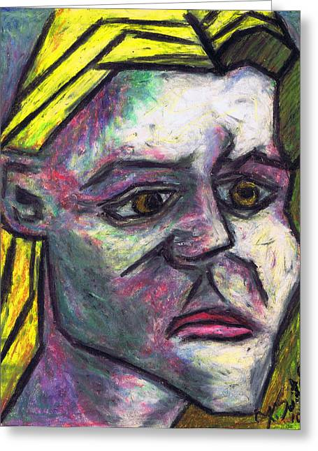 Cubist Pastels Greeting Cards - Kamila Greeting Card by Kamil Swiatek