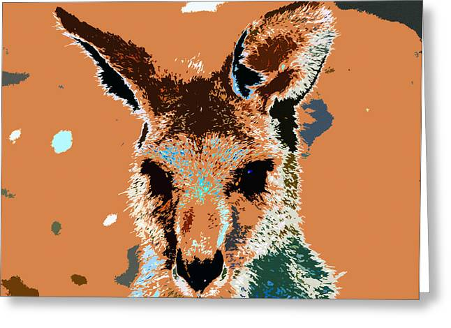 Kanga Roo Greeting Card by David Lee Thompson