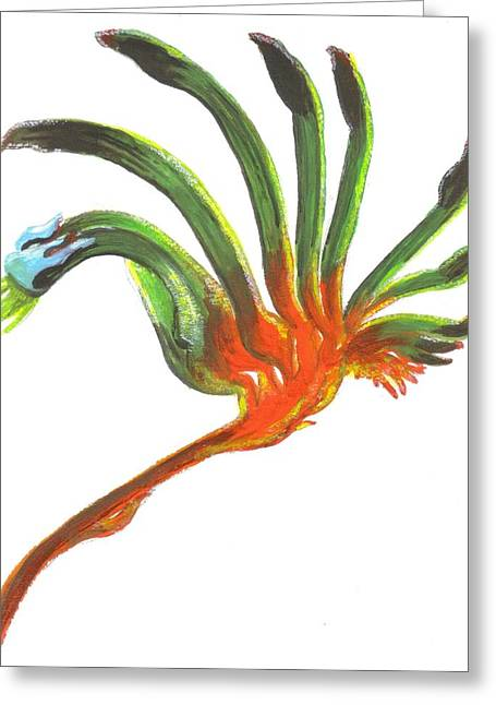 Kangaroo Drawings Greeting Cards - Kangaroo Paw Greeting Card by Tahala Eisen