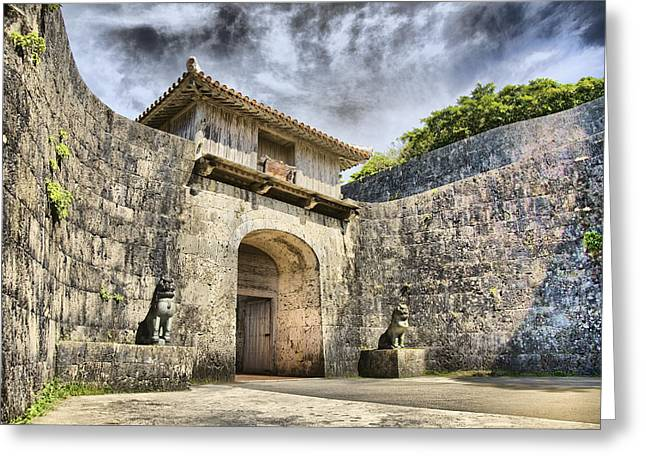 Karen Walzer Greeting Cards - Kankaimon Gate  Greeting Card by Karen Walzer