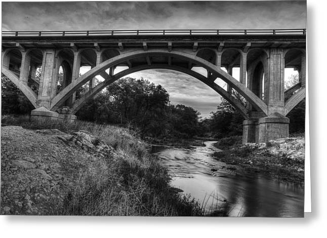 Roadway Photographs Greeting Cards - Kansas Archway Bridge Greeting Card by Thomas Zimmerman
