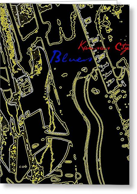 Neon Effects Greeting Cards - Kansas City Music  Greeting Card by Chris Berry
