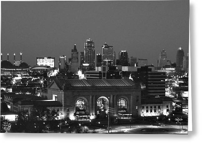 Marriot Greeting Cards - Kansas City Skyline Greeting Card by Laurie Douglas