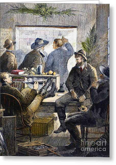Destiny Greeting Cards - Kansas Land Office, 1874 Greeting Card by Granger