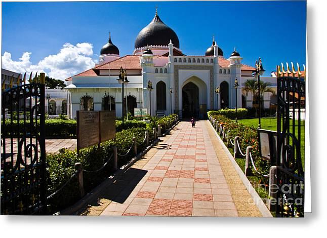 Malaysia Greeting Cards - Kapitan Kling Mosque Georgetown Penang Greeting Card by John Buxton