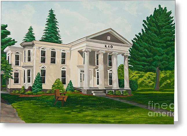 Historical Pictures Paintings Greeting Cards - Kappa Alpha Theta Greeting Card by Charlotte Blanchard