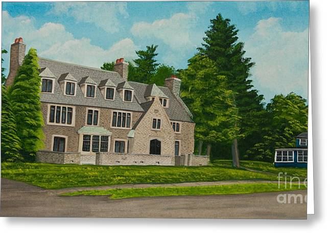 Historical Pictures Paintings Greeting Cards - Kappa Delta Rho North View Greeting Card by Charlotte Blanchard