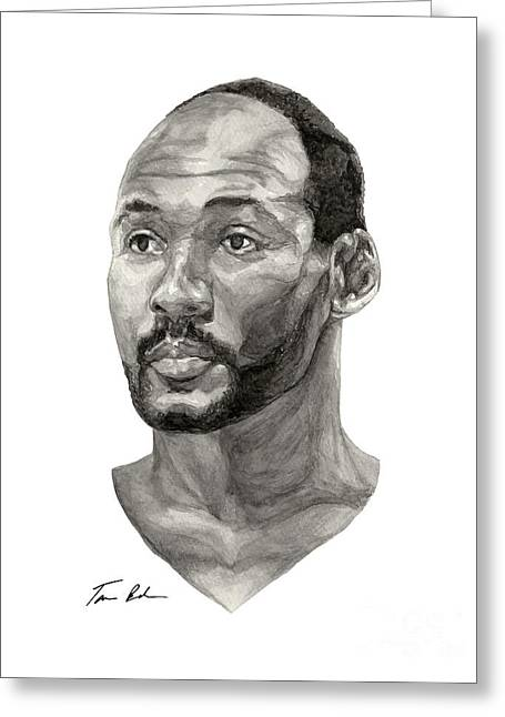 Karl Malone Greeting Card by Tamir Barkan