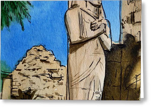 Karnak Temple Egypt Greeting Card by Irina Sztukowski