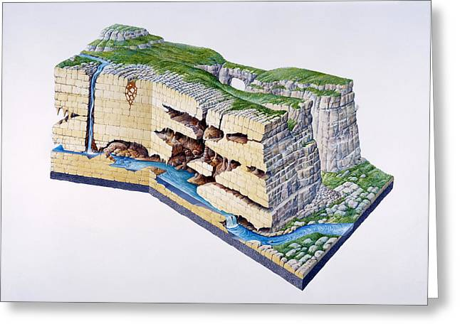 Swallow Hole Greeting Cards - Karst Landscape Greeting Card by Gary Hincks