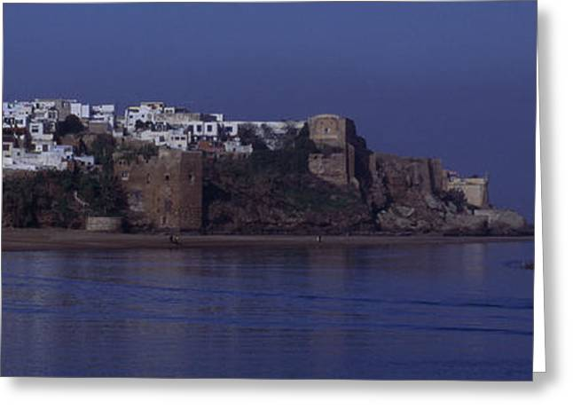 Rabat Photographs Greeting Cards - Rabat Kasbah Des Oudaias Bouregreg River Morocco Greeting Card by Antonio Martinho