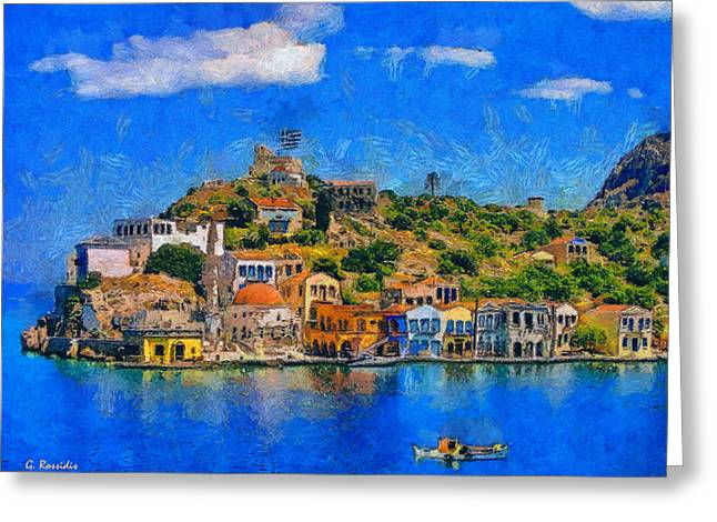 Dodecanese Greeting Cards - Kastelorizo island Greeting Card by George Rossidis