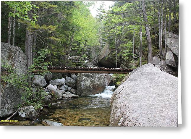 Clean Water Mixed Media Greeting Cards - Katahdin Stream Greeting Card by Lewis Journeyman