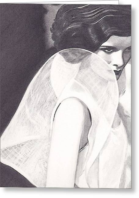 Kate Greeting Card by Jill Dodson