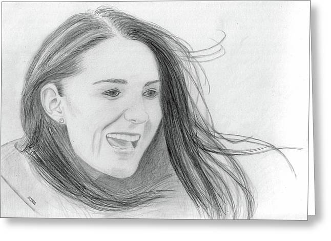 Kate Middleton - Duchess of Cambridge Greeting Card by Pat Moore