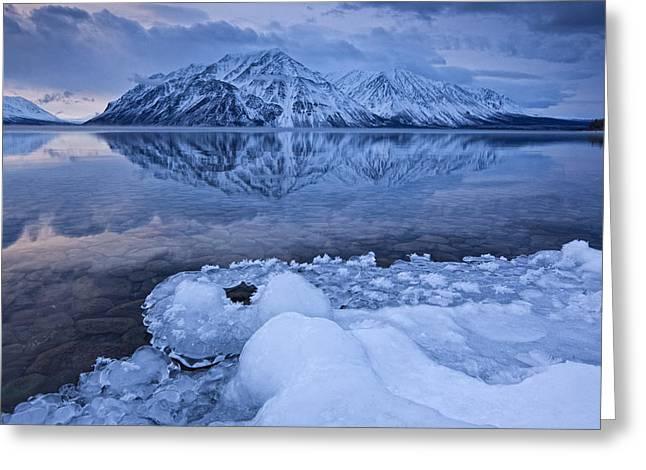 Kathleen Lake, Kluane National Park Greeting Card by Robert Postma