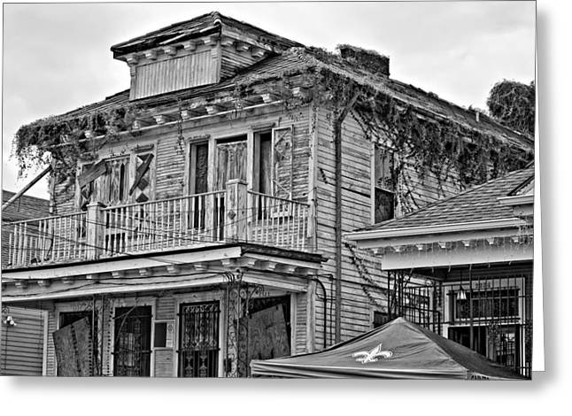 Storm Prints Photographs Greeting Cards - Katrina...Seven Years Later monochrome Greeting Card by Steve Harrington