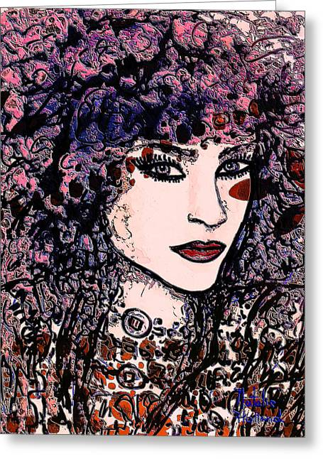 Bold Necklace Greeting Cards - Katya Greeting Card by Natalie Holland