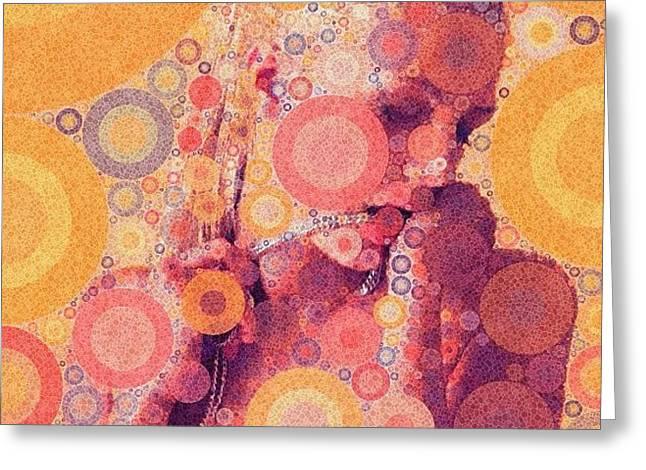 Greeting Cards - Katya (strange Brew) Greeting Card by Bryon Paul Mccartney
