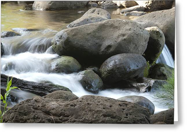 Quite Greeting Cards - Kauai Mountain Stream 1350 Greeting Card by Michael Peychich