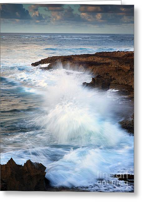 Lithified Greeting Cards - Kauai Sea Explosion Greeting Card by Mike  Dawson