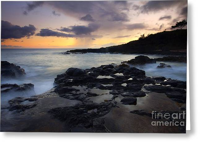 Squall Greeting Cards - Kauai Storm Passing Greeting Card by Mike  Dawson