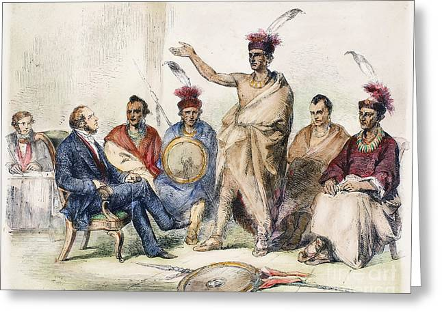 Kaw Delegation, 1857 Greeting Card by Granger