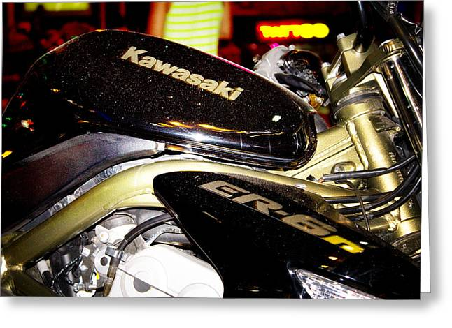 Editorial Photographs Greeting Cards - Kawasaki Greeting Card by Stylianos Kleanthous