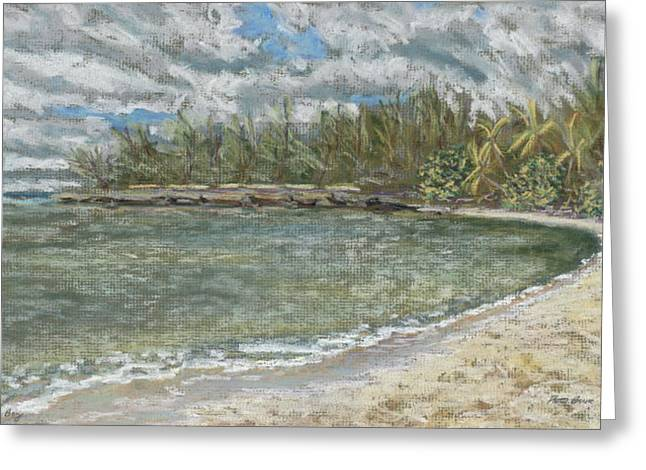 Beach Landscape Pastels Greeting Cards - Kawela Bay Greeting Card by Patti Bruce - Printscapes