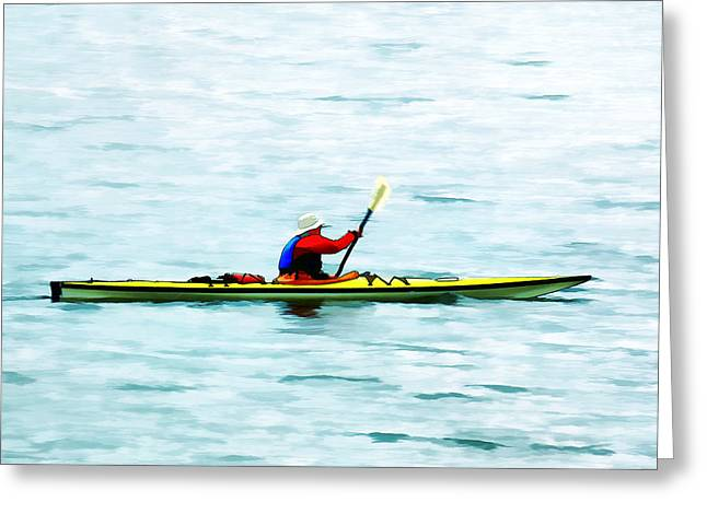 Life Jacket Greeting Cards - Kayak Out On the Bay Greeting Card by Tracie Kaska