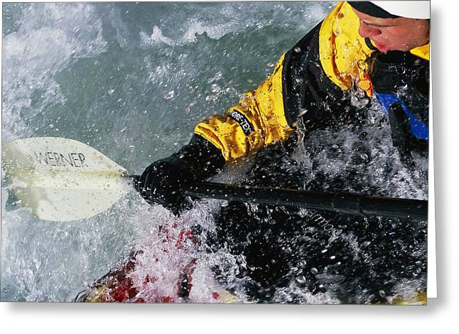 Endurance Sports Greeting Cards - Kayaking The Iron Curtain Class V Greeting Card by Bobby Model