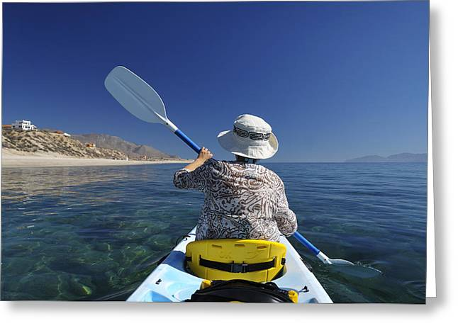 Ventana Greeting Cards - Kayaking the Sea of Cortez Greeting Card by Christian Heeb
