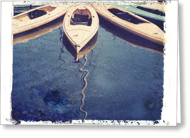 Transfer Greeting Cards - Kayaks  Greeting Card by Joe  Palermo