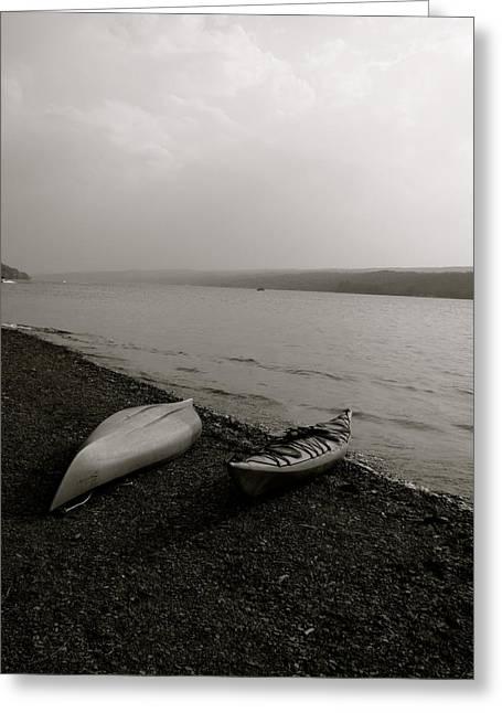 Keuka Greeting Cards - Kayaks on Keuka Greeting Card by Ellery Hardee