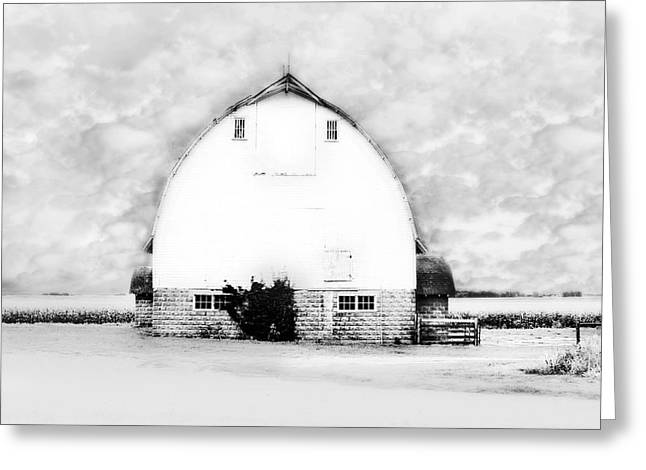 Kays Barn Greeting Card by Julie Hamilton