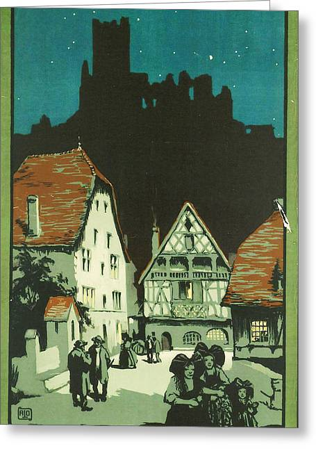 Old Town Digital Art Greeting Cards - Kaysersberg Alsace Greeting Card by Nomad Art And  Design