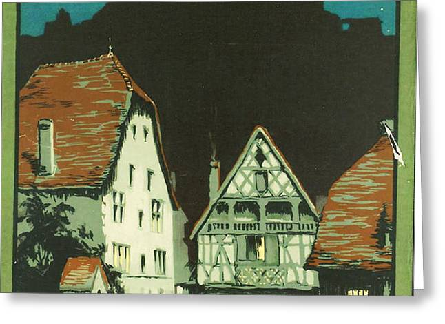 Kaysersberg Alsace Greeting Card by Nomad Art And  Design