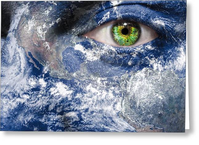 Sustenance Greeting Cards - Keep an Eye on the World Greeting Card by Semmick Photo