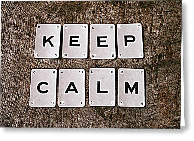 Floorboards Greeting Cards - Keep Calm Greeting Card by Nomad Art And  Design