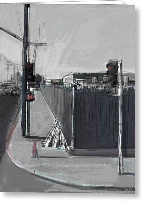 Barbed Wire Fences Mixed Media Greeting Cards - Keep Out Greeting Card by Russell Pierce