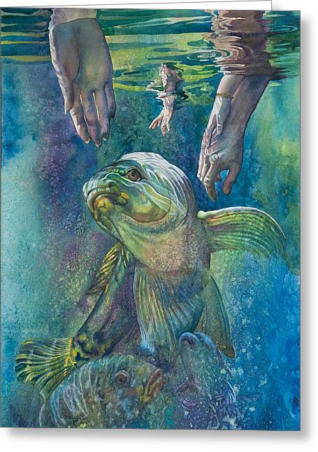 Subconscious Greeting Cards - Keep still it will come to you. Greeting Card by Gilly  Marklew
