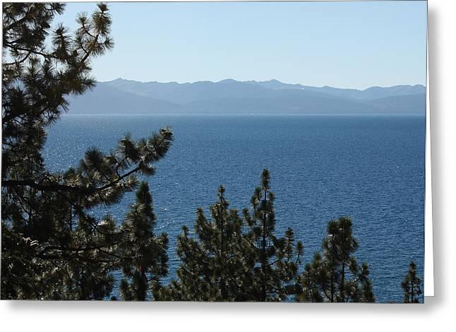 Pond In Park Greeting Cards - Keep Tahoe Blue Greeting Card by Lydia Warner Miller