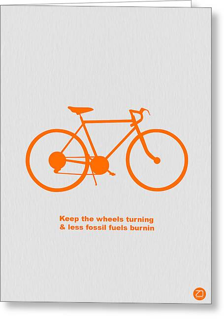Vintage Bicycle Greeting Cards - Keep the wheels turning Greeting Card by Naxart Studio