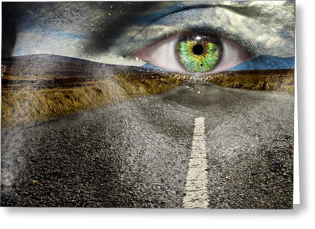 Keep Your Eyes On The Road Greeting Card by Semmick Photo