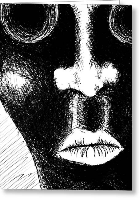Dark Skies Drawings Greeting Cards - Keep Your Mouth Shut Greeting Card by Jera Sky