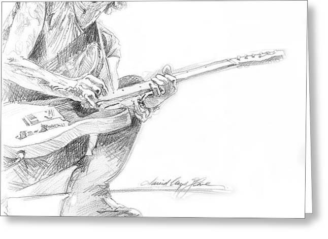 Keith Richards  Fender Telecaster Greeting Card by David Lloyd Glover