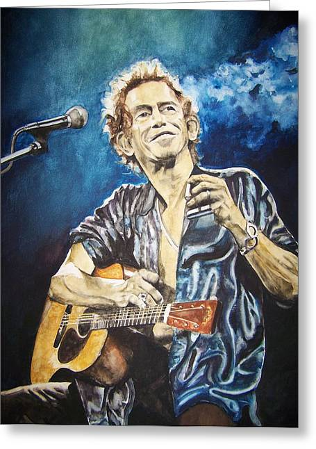 Rolling Stones Greeting Cards - Keith Richards Greeting Card by Lance Gebhardt