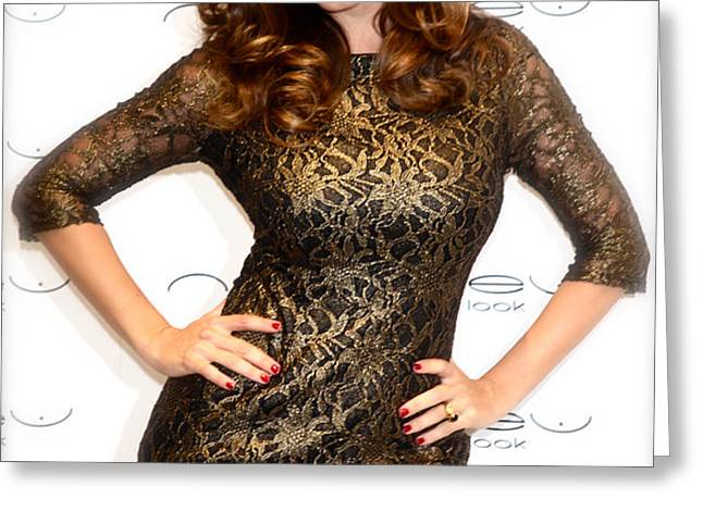 kelly brook 3 Greeting Card by Jez C Self